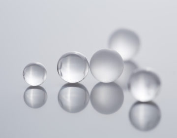 glass balls-typ-P-frosted-mixing beads-locking ball
