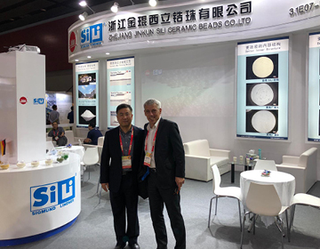 Sigmund Lindner GmbH recently presented the SiLibeads grinding beads at the Chinacoat in Guangzhou.